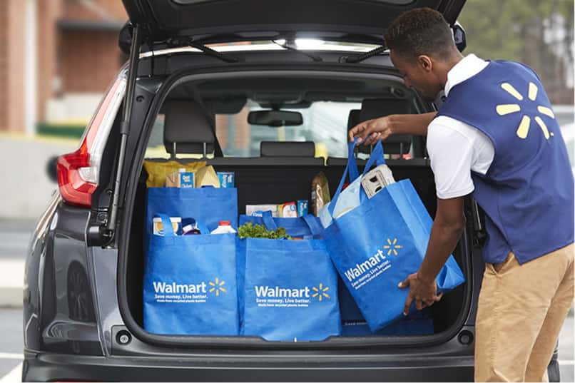 walmart allows you to buy online and delivers your products wherever you want