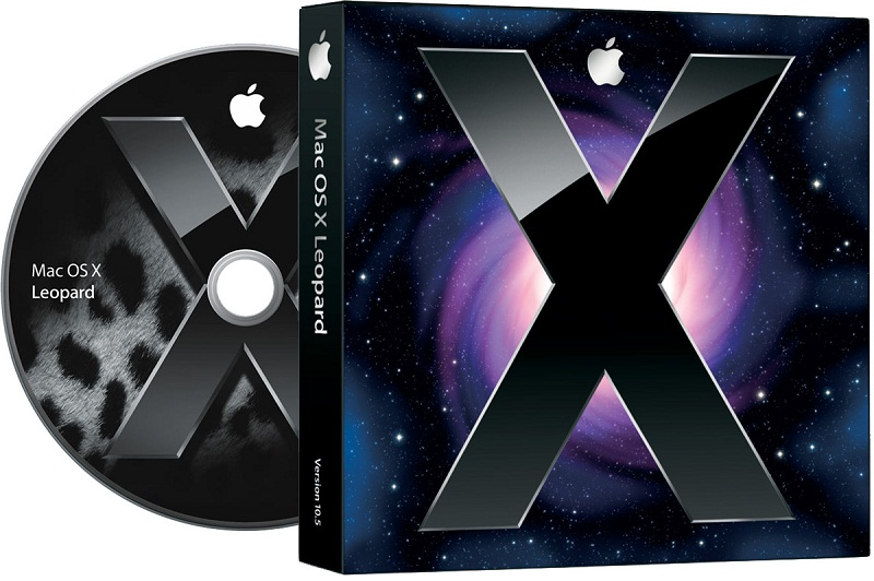 Mac OS X black disk with purple white background