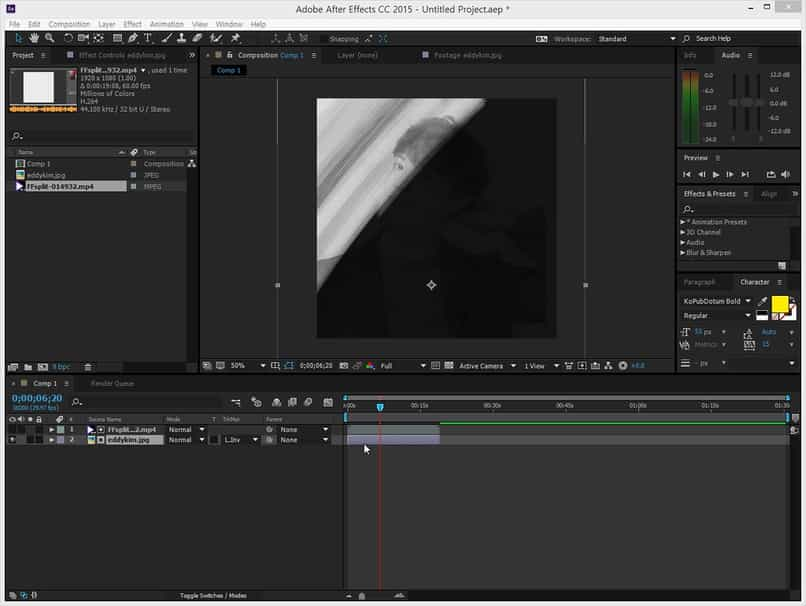 change colors of an image in after effects