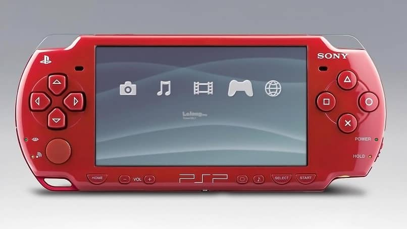 sony psp screen red color