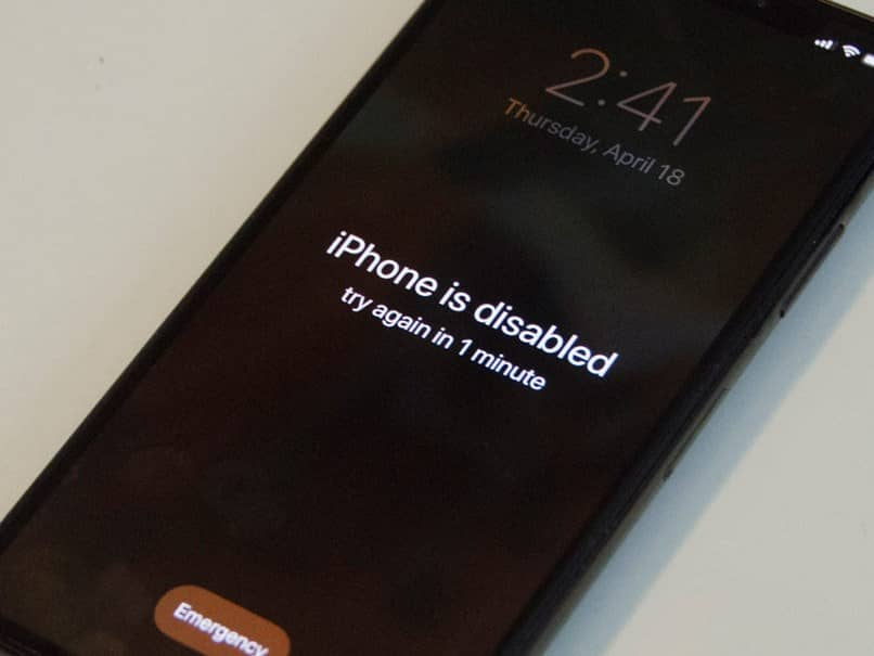 black iphone disabled