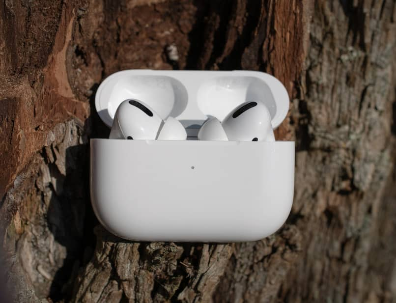 AirPods in their box