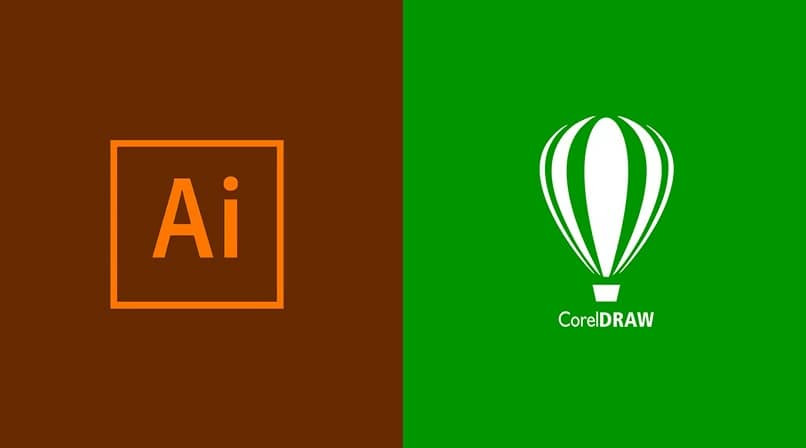 colors half brown and green, on one side the logo of the ai file and on the other corel draw