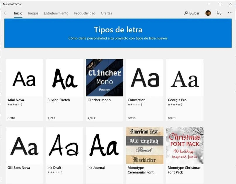 templates of typefaces in word