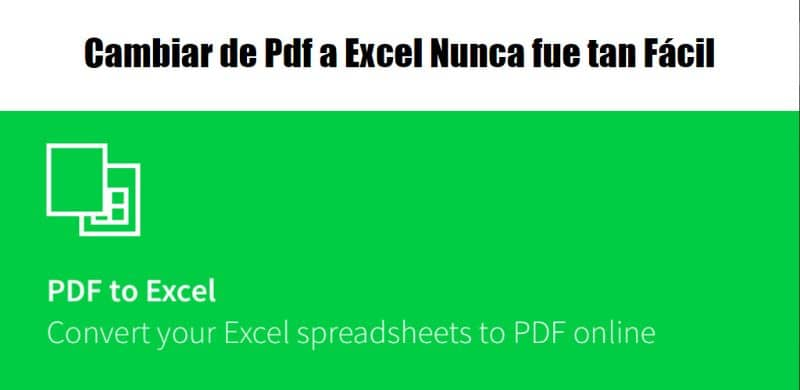 Program to convert from PDF to Excel