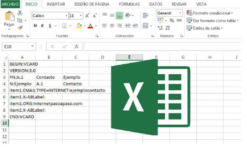 excel logo on background of cells with data
