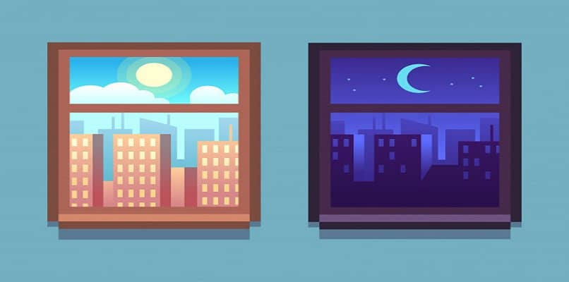 daytime and nighttime