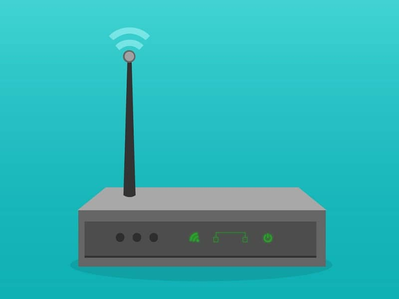 router with antenna