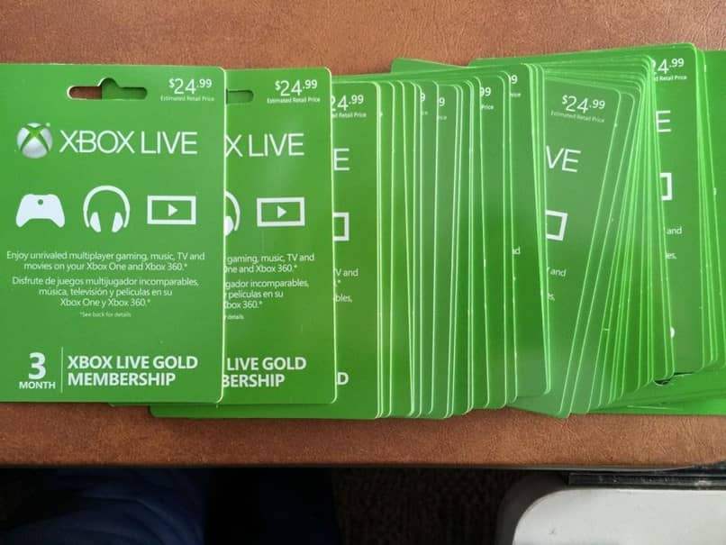 various xbox live cards