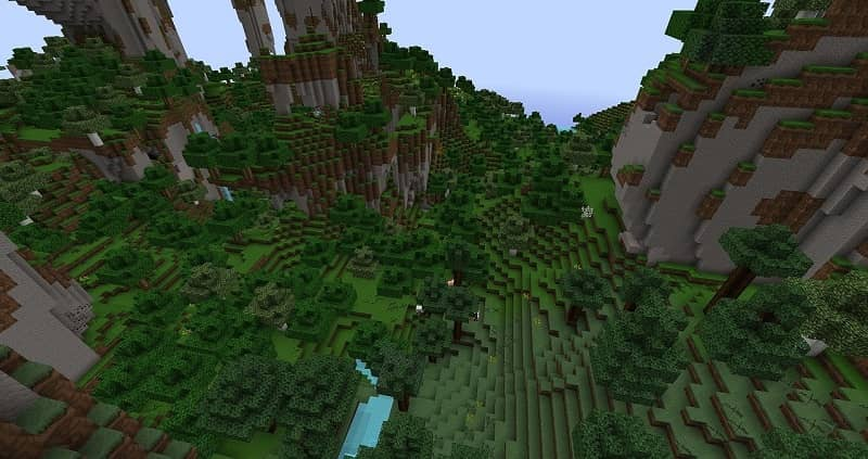 Get apples in the Minecraft forest