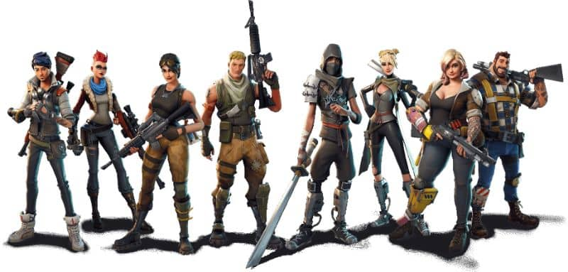fortnite players white background