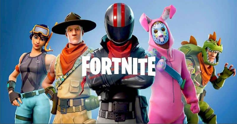 Fornite background, characters