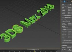 How to Create 3D Text with 3D Studio Max - Complete Tutorial